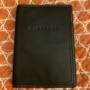 NWT COACH LEATHER PASSPORT COVER